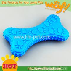 Rubber bone shape dog toy