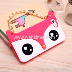 Hot selling Fox shape phone case cover for iPhone 6