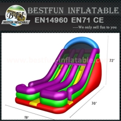 Inflatable dual lane slide inflatable dry slide