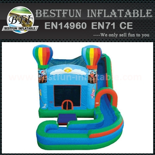 Inflatable Non Slip Wet & Dry Slide with Pool