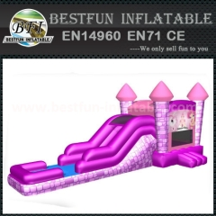 Pink princess inflatable castle combo