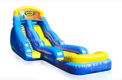 Fantastic inflatable blue water slide for sale