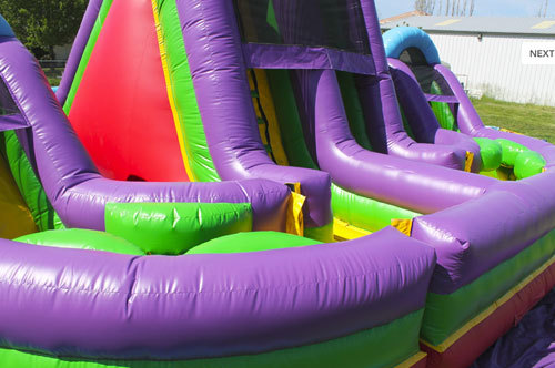 Inflatable fun city crazy obstacle course