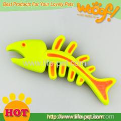 Fish shape dog toy