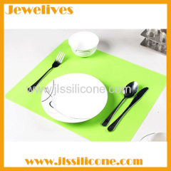 Cyan Silicone dining mat