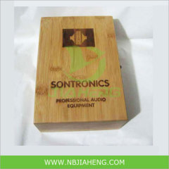 Laser Engraving Cheap Bamboo Box Wholesale