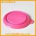 Silicone collapsible pet bowls easy take