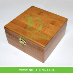 Bamboo Box with Coper Key