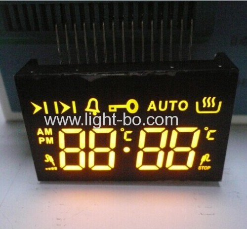 Ultra amber (yellow) 4 digit 7 segment led display for digital oven timer