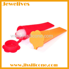 Silicone Ice Pop Maker flower shape lid