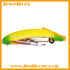 Silicone zipper money bag banana shape