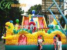 Kids Giant Dragon Inflatable Fun City With Bounce Slide CE / UL Blower