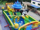 Large Inflatable Mickey Mouse Bouncer Fun City For Amusement Parks