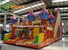 Colorful Giant Castle Inflatable Bouncy Slide With Durable Repair Kits