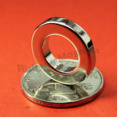 Permanent Magnet Supplier of D20 x d10 x 4mm N42 Ring Magnets Radially Magnetized