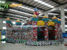 Huge Colourful Inflatable Bouncy Castle Fun City For Child Inflatable Play Park