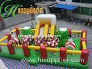 Outdoor Inflatable Fun City / Jumping Obstacle Bouncy Castle For Children