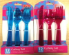 PS cutlery set 12pcs plastic