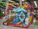 Backyard Aladdin Castle Inflatable Bouncy Slide , Inflatable Castle Slide