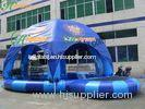 Amusement Park Inflatable Water Pool With a Tent Cover , Family Size Inflatable Pools