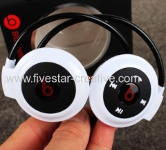 2014 Beats by Dr.Dre Bluetooth Stereo Foldable Neckband Headsets Mini503 White