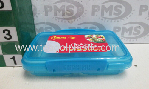 Plastic clip lock storage container 350ml Divided snack box 350ml