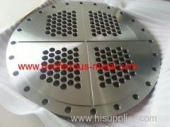 Titanium tube sheet & Titanium caldding plate
