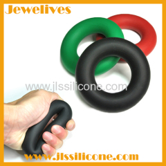 Silicone hand grips for strength training