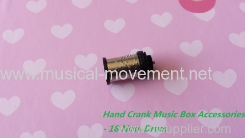 Hand Cranked Music Box Parts 18 Note Cylinder