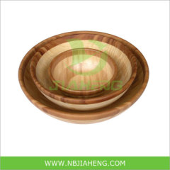 Kitchen Dinnerware Bamboo Bowl 3PCS for Set