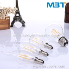 Led filament tail bulbs
