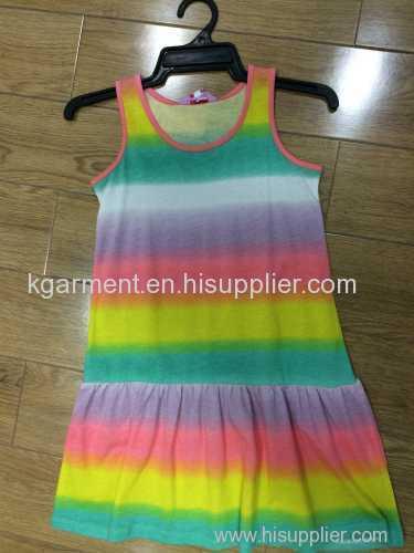 100% cotton girl's print skirt