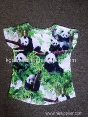 Ladies Knitted all over print T Shirt