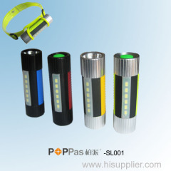 New Promotion Multi-function CREE XP-E R2 High Power LED Flashlight POPPAS-SL001