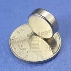 N45 magnets for sale disc magnetic D15 x 5mm Neodymium Magnet Strength NiCuNi Plated