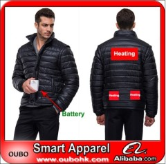 Fashion customized outdoor man down jacket With Heating System Warm OUBOHK