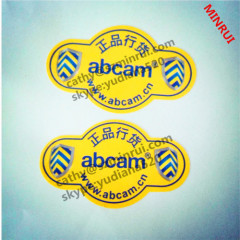 anti-peel and water proof feature pemanent adhesive labels