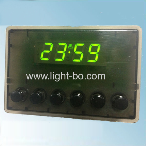 Custom Ultra Green 7 Segment LED Display 4 Digits for Oven Timer