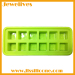 Silicone ice cube with 12 cavities dice shape
