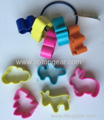 Tree cow rabbit plane cloud shape plastic cookie cutter biscuit mould