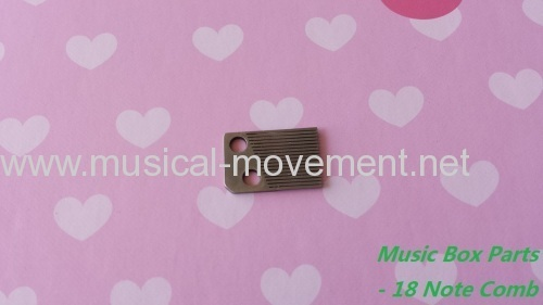 HAND CRANK MUSIC BOX PARTS 18 NOTE COMB