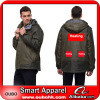 2014 fashion men outdoor waterproof jacket With Battery Heating System Electric Heating Clothing Warm OUBOHK