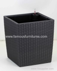 square imitation rattan flower pot