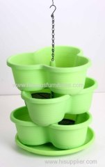 three layers PP flower pot