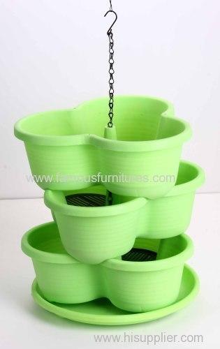 three layers PP flower pot