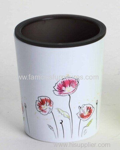 plastic flower pot with printing