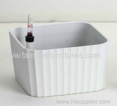 plastic PP flower pot with fence design