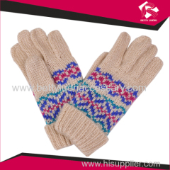 ladies jacquard knitted gloves