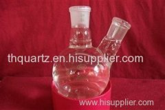 Quartz two flasks quartz tube