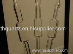 Quartz bubble shell quartz tube